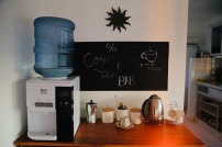 Stocked coffee & tea bar